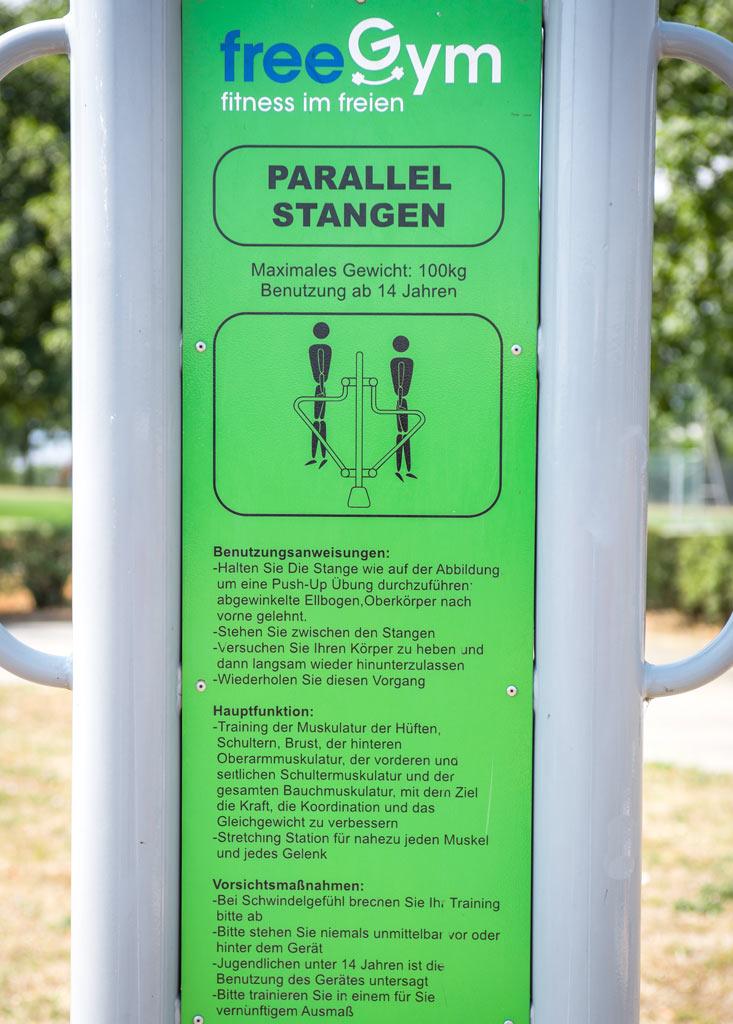 FreeGym Geräte - Parallel Stangen