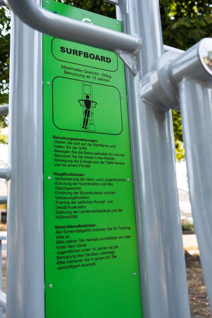 FreeGym Geräte - Surfboard